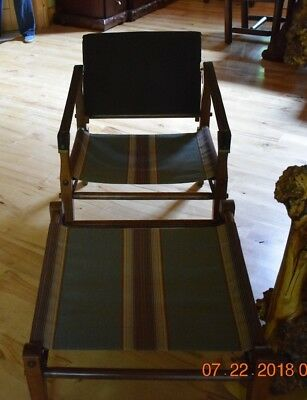 Campaign Furniture-Chair and Sling Ottoman