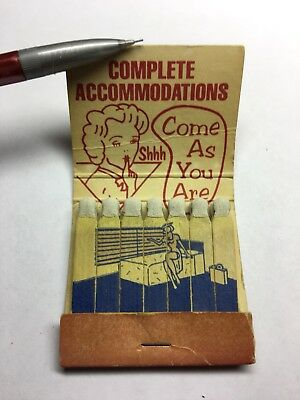 No Tell Motel Feature Matchbook Girlie Antique Matches Match Advertising Early