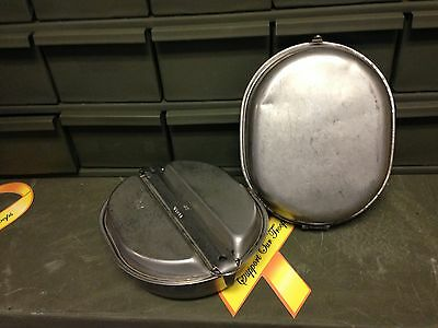 Military Wyott Mess Kit Pan Plate Stainless Steel Camping Hunting Survival