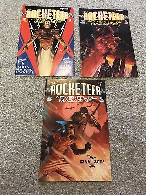 The ROCKETEER ADVENTURE MAGAZINE, COMPLETE 3 ISSUE SERIES 1988
