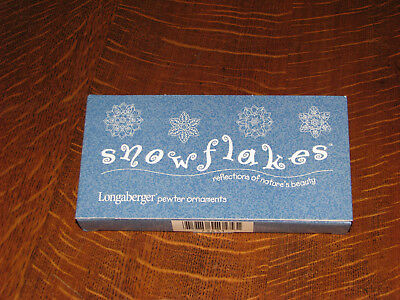 Longaberger Pewter Christmas Ornament Snowflakes Set - New