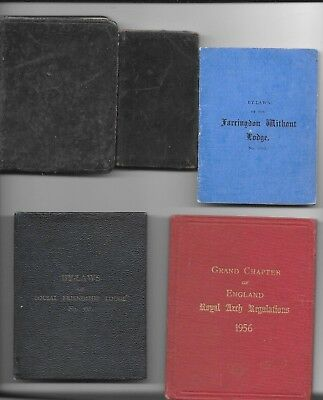 5 Vintage Masonic/freemasonry Book/booklets - Circa 1890-1956