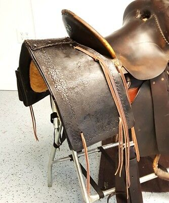 Vintage Early 1900's Antique Western Leather Saddle Bags Great Find