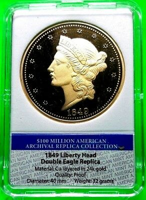 1849 Liberty Head Double Eagle Archival Edition Coin Proof