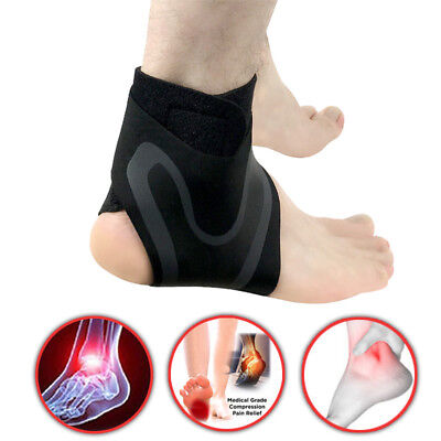 Elastic Foot Guard Splint Strap Protector Unisex Ankle Support Brace Injury Wrap