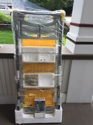 """Brand New """"total Trolley"""" Yellow Ladder Flatbed Dolly Hand Truck Cart 4 In 1 Nib"""