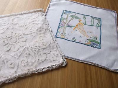 ~ Vintage Cushion Covers~ Lace & Embroidery~