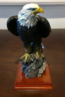 Eagle Perched On Rock! Brand New!!