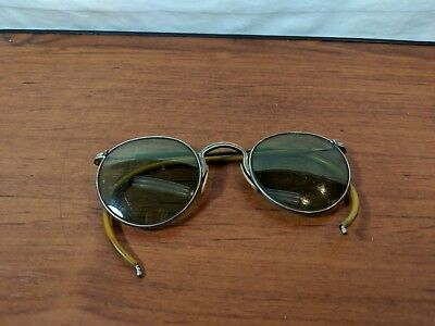 VINTAGE TINTED SAFETY GLASSES MOTORCYCLE Bausch & Lomb