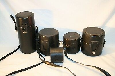 Lot of 5 Misc. Hard Camera Lens Protective Cases............(L8)