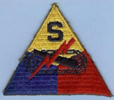 US Army Armor School Patch, Ribbed and Embroidered on Wool