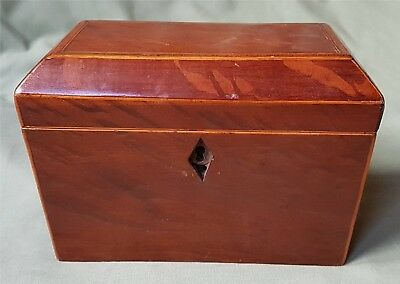Antique Wooden Tea Caddy with two compartments.