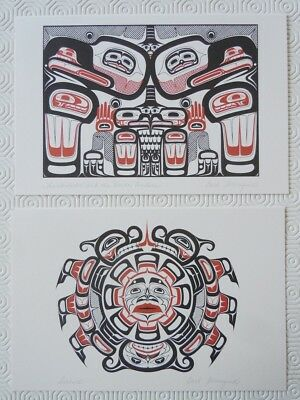 Lot of 2 NEW Native American Art Print Greeting Cards Carl Stromquist Canada