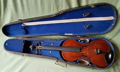Late 19th century Violin, one piece Flat Back
