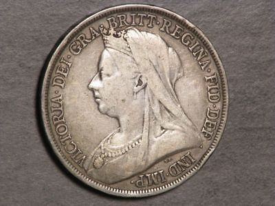 GREAT BRITAIN 1893 LVI 1 Crown Victoria Silver F-VF