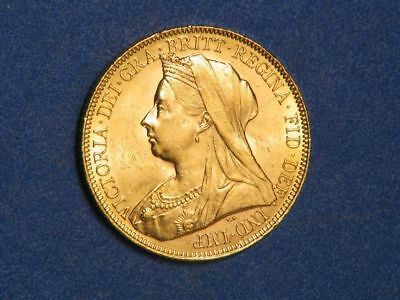 GREAT BRITAIN 1901 1 Sovereign GOLD BU