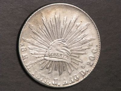 MEXICO 1878HoJA 8 Reales Silver Crown XF-AU