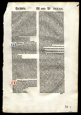 1489 Incunable Leaf  Repertorium Morale  Reflections on The Word of Scripture