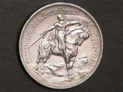 PORTUGAL 1928 10 Escudos Battle of Ourique Silver XF-AU