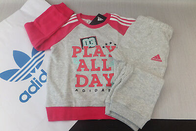 Adidas Infant Graphic French Terry Jogger TrackSuit Girl Children Kids - DJ1584