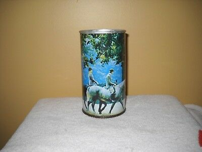 Suntory Horse back riding # 864 - Empty 12 oz Steel Pull Tab Can - Japanese Can