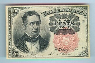 10¢ Fractional Currency - Series 1874 - 5Th Issue - Cat. #1265 - Uncirculated