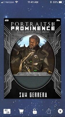 Saw Gerrera Relic-Portraits Of Prominence-Topps Star Wars Digital Card