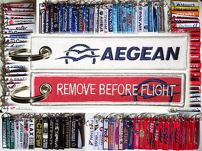 Keyring AEGEAN AIRLINES Αεροπορία Αιγαίου Remove Before Flight keychain pilot