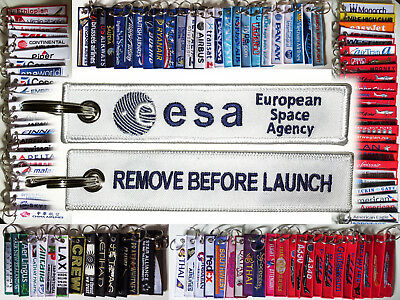 Keyring ESA European Space Agency Remove Before Launch keychain