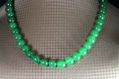 Handwork Decoration Exquisite Jade Polishing Green Beads Luster Fashion Necklace