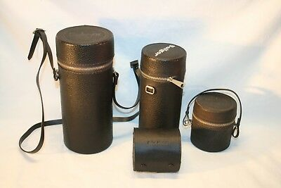 Lot of 4 Misc. Hard Camera Lens Protective Cases............(L13)