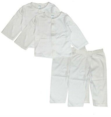 Baby Clothes Set Cardigan Pants Boy Girl White Layette Coming Home 3 6 9 Months