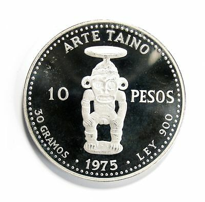 1975 Dominican Republic Silver 10 Pesos Proof #134869