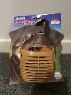 Baskerville Deluxe Muzzle Wide Fit Size 15 Ideal For Rottweiler Type Breeds Dog