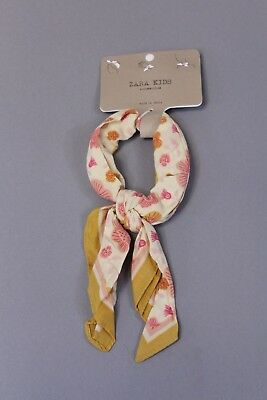 Zara Girl's Floral Scarf SV3 Yellow One Size NWT