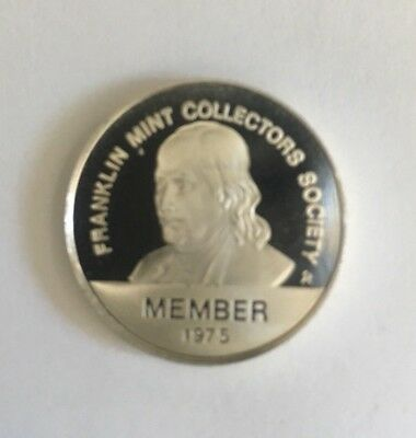 Franklin Mint Collectors Society 1975 Member Coin .925 silver