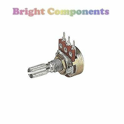 500K Ohm 16mm Linear Variable Resistor (Potentiometer) - 1st CLASS POST