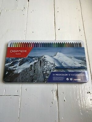 Caran D-ache Neocolour II Watersoluble 84 Set Colours. Brand New. Sealed.