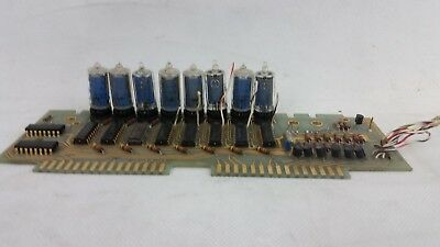 HP Agilent 5340A 05340-60020 Frequency Counter Display Board 8 Nixie Tubes B-587