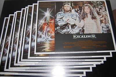 Excalibur 1981 11x14 Original Lobby 9 Card Complete Set MINT Cond