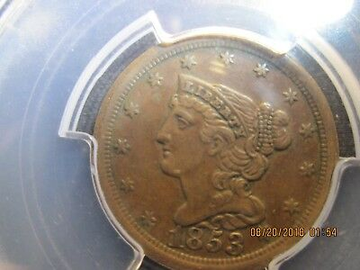 US Half Cent 1853, Choice Extremely Fine Condition (PCGS)