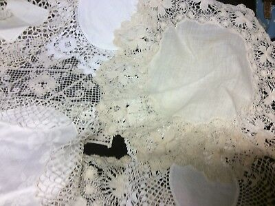 20 Assorted Antique And Vintage Crochet Edged Doilies And Mats