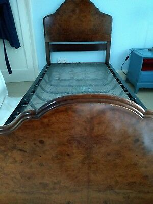 Burr Walnut Vintage Edwardian Single Beds