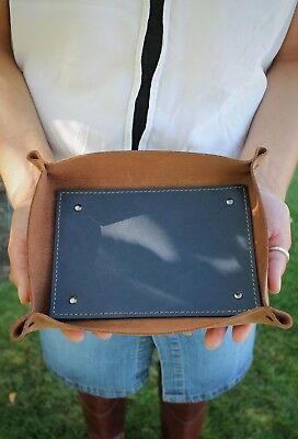 Handcrafted Premium Leather Large Valet Tray, Organizer more colors