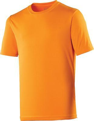 AWDis Mens Short Sleeve Crew Neck Polyester Tee Casual Top Slim Fit Cool T-Shirt