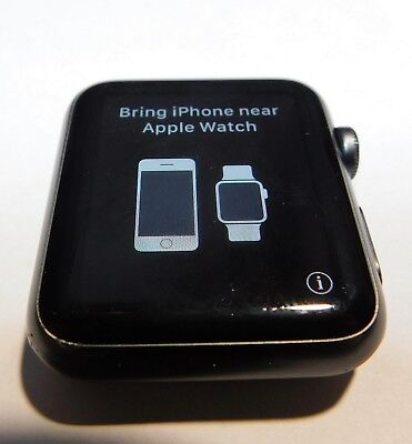 Apple Watch A1554 Series 7000 42mm Aluminum Grey Case Black Sport Band
