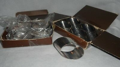 Silver-Plated Oval Napkin Rings - Set of 8 Eight