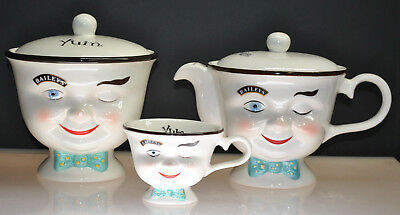 "Vintage ""bailey's"" Irish Coffee ""yum"" Limited Edition Pot, Jar & Cup (3Pcs) 1996"