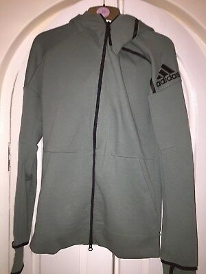 Adidas ZNE Pulse 2 Hoodie / Men's Full zip Hoody Green Black Khaki Olive size S