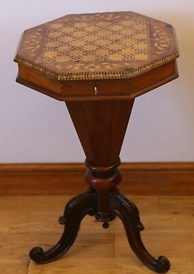 Victorian Walnut Sewing Table / Games Table